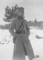 Captain Józef Zajac of Polish 3rd Infantry Regiment, probably Wolczecko region of Volhynia, Jan-Feb 1916