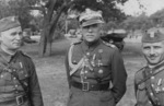 Brigadier General Józef Zajac, Major General Leon Berbecki, and Colonel Jan Jagmin-Sadowski, Silesia region of Poland, 1936