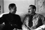 Lieutenant General Ding Zhipan and photographer Harrison Forman, China, 1944