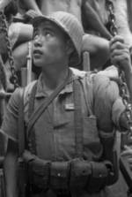 Young Chinese military cadet, Hubei Province, China, 1942