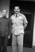 Harrison Forman with a Chinese official, Ganzhou, Jiangxi Province, China, 1943