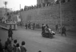 Lunar New Year parade, Chongqing, China, 15 Feb 1942; note unidentified motorcycle