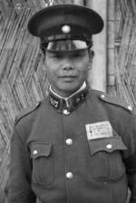 Chinese policeman, Shanghai, China, 1941