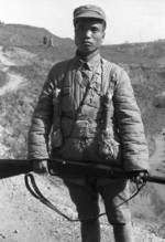 Chinese soldier, Changde, Hunan Province, China, 25 Dec 1943, photo 1 of 3