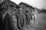 Chinese soldiers parading with recently captured Japanese equpiment, Changde, Hunan Province, China, 25 Dec 1943, photo 2 of 2