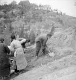 Civilians digging trenches, Chongqing, China, fall of 1937
