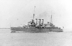 United States Navy photo of the cruiser HMS Cumberland on the Yangtze River, China below Hankow (now Hankou), 30 May 1937.