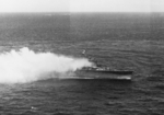 Katori burning off Truk, Caroline Islands, 19 Feb 1944