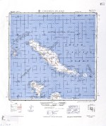1944 United States Army map of Choiseul Island, the northernmost of the Solomon Islands.