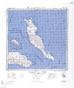 1944 United States Army map of Malaita Island and the eastern end of Guadalcanal in the Solomon Islands.