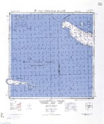 1944 United States Army map of San Cristobal and Rennell Islands with a portion of the Coral Sea in the Solomon Islands.