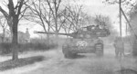 M18 Hellcat of US 824th Tank Destroyer Battalion in support of 2nd Battalion of US 397th Infantry Regiment at Wiesloch, Germany, 1 Apr 1945