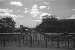 Barricaded bridge, French Concession Zone, Shanghai, China, mid-1937, photo 1 of 2