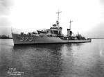 Destroyer USS Shaw at the Philadelphia Navy Yard, 26 Jan 1937. Photo 2 of 2.