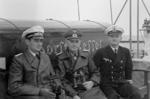 Field Marshal Werner von Blomberg (center) and his adjutant Captain Lieutenant Hubert von Wangenheim aboard Horst Wessel, Germany, 1 May 1937