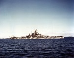 USS Alabama during her shakedown period, Casco Bay, Maine, United States, Dec 1942