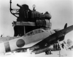 A6M2 Zero fighter aboard carrier Akagi prior or during the attack on Pearl Harbor, Dec 1941