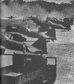 A6M Zero fighters at Rabaul, New Britain, late 1942