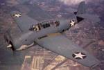 TBF Avenger torpedo bomber in flight, mid-1942
