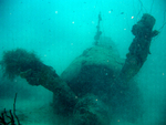 Wreck of a B6N aircraft under 120 feet of water at Truk (Chuuk), Caroline Islands, 22 Jul 2006, photo 3 of 3