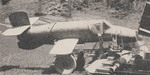 BP20 or Ba 349 Natter rocket interceptor at rest, circa late 1944; seen in bulletin