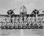 Aircraft Mechanic Class 2A posing for their graduation photo in front of a B-18 Bolo bomber at Hickam Field, Oahu, US Territory of Hawaii, 5 Jun 1940