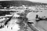 Canadians pulling the wreckage of a Digby Mark I aircraft out of Freshwater Bay at Dover, Dominion of Newfoundland (now Newfoundland and Labrador, Canada), after the plane crashed into the bay on 2 Jan 1942