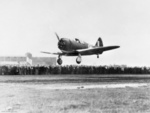 Boomerang aircraft landing, date unknown