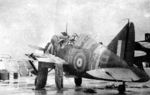F2A Buffalo fighter being serviced, date unknown