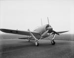 Buffalo Mark I fighter at rest, Aeroplane and Armament Experimental Establishment, Boscombe Down, Wiltshire, England, United Kingdom, date unknown