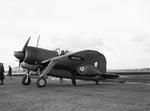 Buffalo Mark I fighter at Aeroplane and Armament Experimental Establishment, Boscombe Down, Wiltshire, England, United Kingdom, 24 Feb 1941