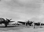 Blenheim Mark I bombers of No. 62 Squadron RAF and Buffalo fighters of Nos. 21 or 453 Squadrons RAAF at Sembawang, Singapore, late 1941
