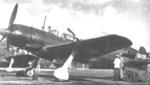 C6N-1S Saiun nightfighter aircraft at rest, Atsugi Airfield, Kanagawa, Japan, Jun 1945