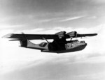 PBY-5A in flight near Naval Air Station Patuxent River, Maryland, United States, 8 Mar 1942; note radar antennae under wings
