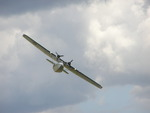 PBY-5a aircraft in flight during an air show at Duxford, England, United Kingdom, 8 Jul 2007
