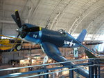 F4U Corsair fighter on display at the Smithsonian Air and Space Museum Udvar-Hazy Center, Chantilly, Virginia, United States, 26 Apr 2009, photo 1 of 2