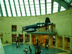 Suspended Corsair in the Leatherneck Gallery at the National Museum of the Marine Corps, Quantico, Virginia, United States, 15 Jan 2007, photo 2 of 3