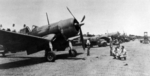 F4U-1 Corsair fighters of US Marine Corps squadron VMF-124 on Guadalcanal, Solomon Islands, Feb 1943