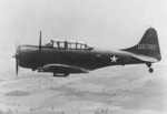 Early Douglas A-24 Banshee aircraft (serial number 41-15780) in flight, 1942