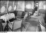 Passenger lounge aboard Do X aircraft, Aug 1930, photo 2 of 2