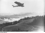The second Do X aircraft in flight over the Italian Alps, Aug 1931