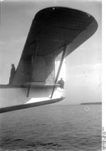 Close-up of the tail of the Do X aircraft, May 1932
