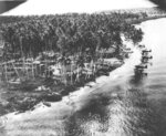 US reconnaissance photo of a Japanese seaplane base, New Guinea, 1942-1943; note Mitsubishi F1M2 Float Planes, US code named