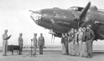 James Doolittle awarding the Purple Heart to the crew of B-17E Flying Fortress bomber