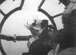 The tail gunner and his view out of a G4M1 bomber, 1941
