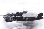 H6K flying boat in flight, date unknown