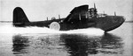 H8K flying boat taking off, US Navy Naval Air Test Center, Patuxent River, Maryland, United States, 1946-1947; seen in Aug 1947 issue of US Navy publication Naval Aviation News