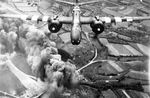 A-20 Havoc bombers of US 416th Bomb Group attacking German road networks in Normandy, France, 6 Jun 1944