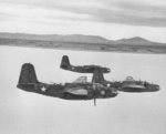 Three A-20B Havoc attack aircraft, probably of 47th Bomb Group, US 12th Air Force, over Tunisia, 27 Feb 1943