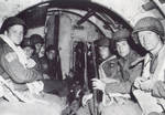 Troops of 325th Glider Infantry of US 82nd Airborne Division in a Horsa glider, training or preparing for Normandy, France invasion, England, United Kingdom, May-Jun 1944